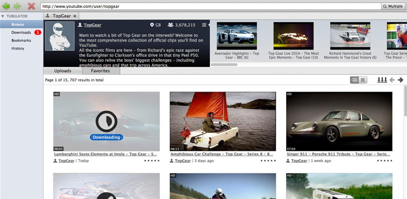 Tubulator – download video and audio from YouTube and similar ...